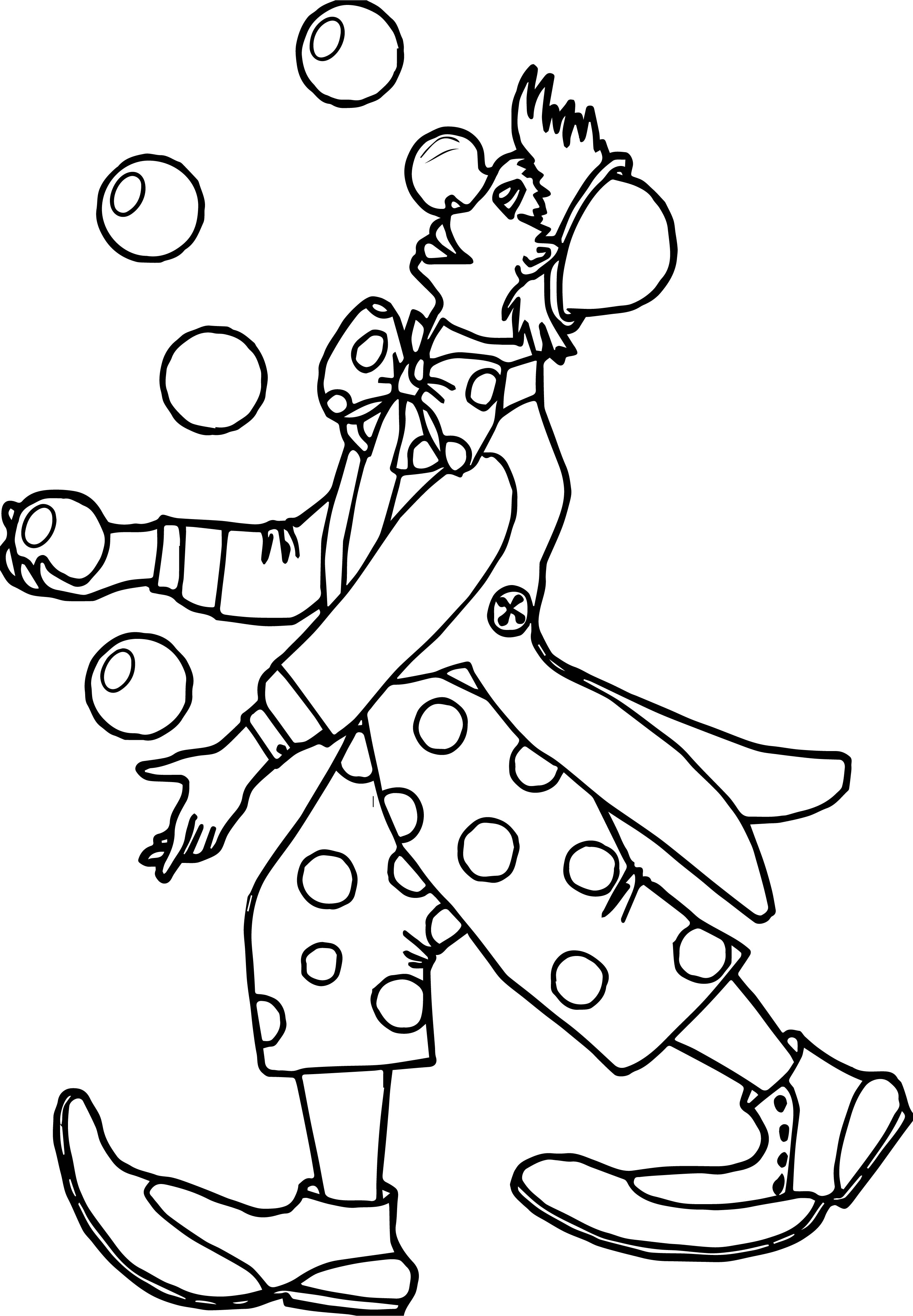 Clown Ball Coloring Page
