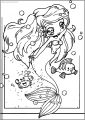 Collab Ariel The Little Mermaid Free Printable Coloring Page