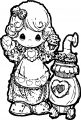 Coloring Page Precious Moments Cook1