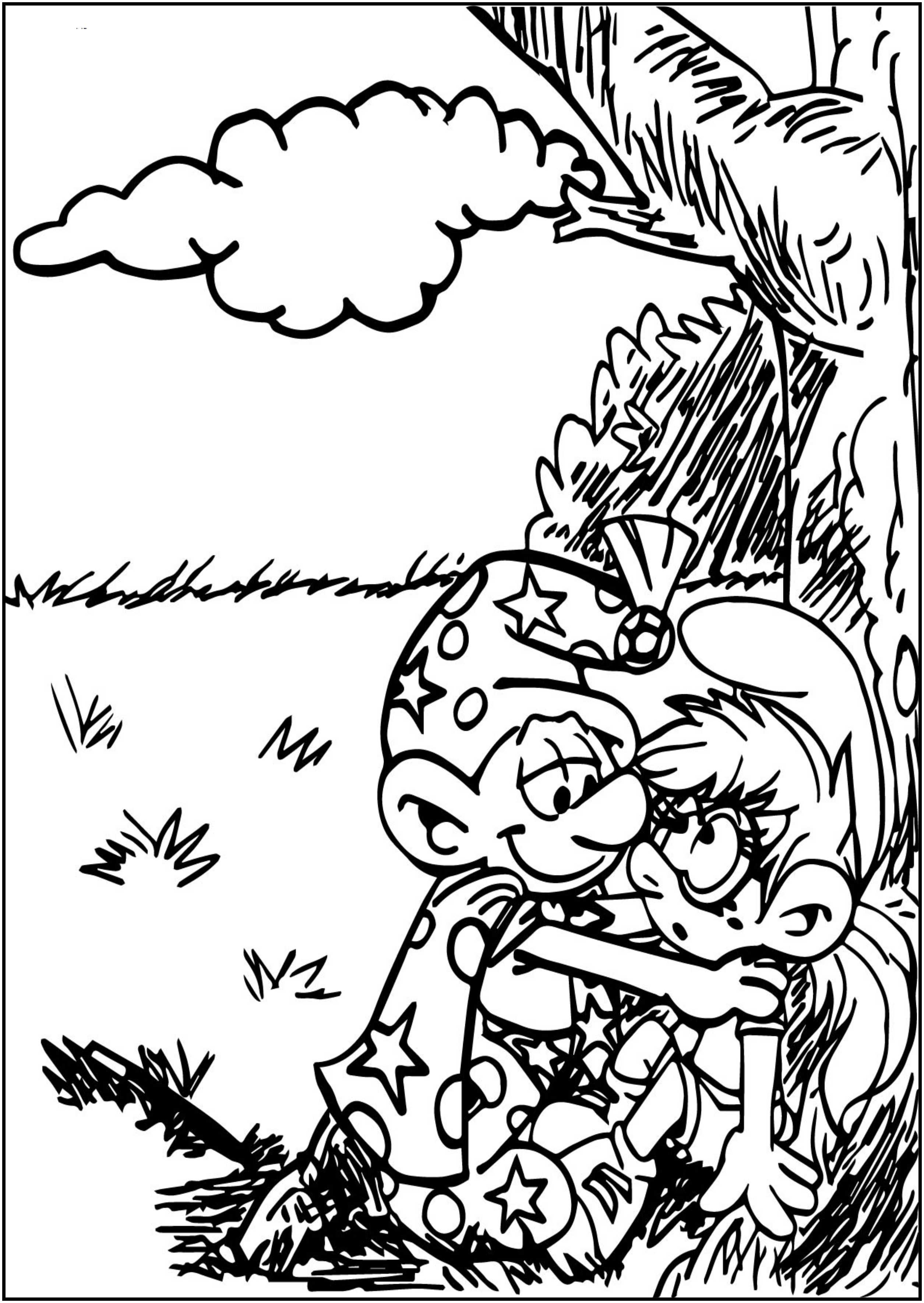 Commission For Bluehecate Fanny Alchemist Smurf Free Printable Coloring Page