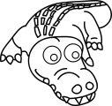 Crodile Coloring Page