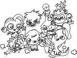 Cute Monsters Adorable And Random Monsters Coloring Page