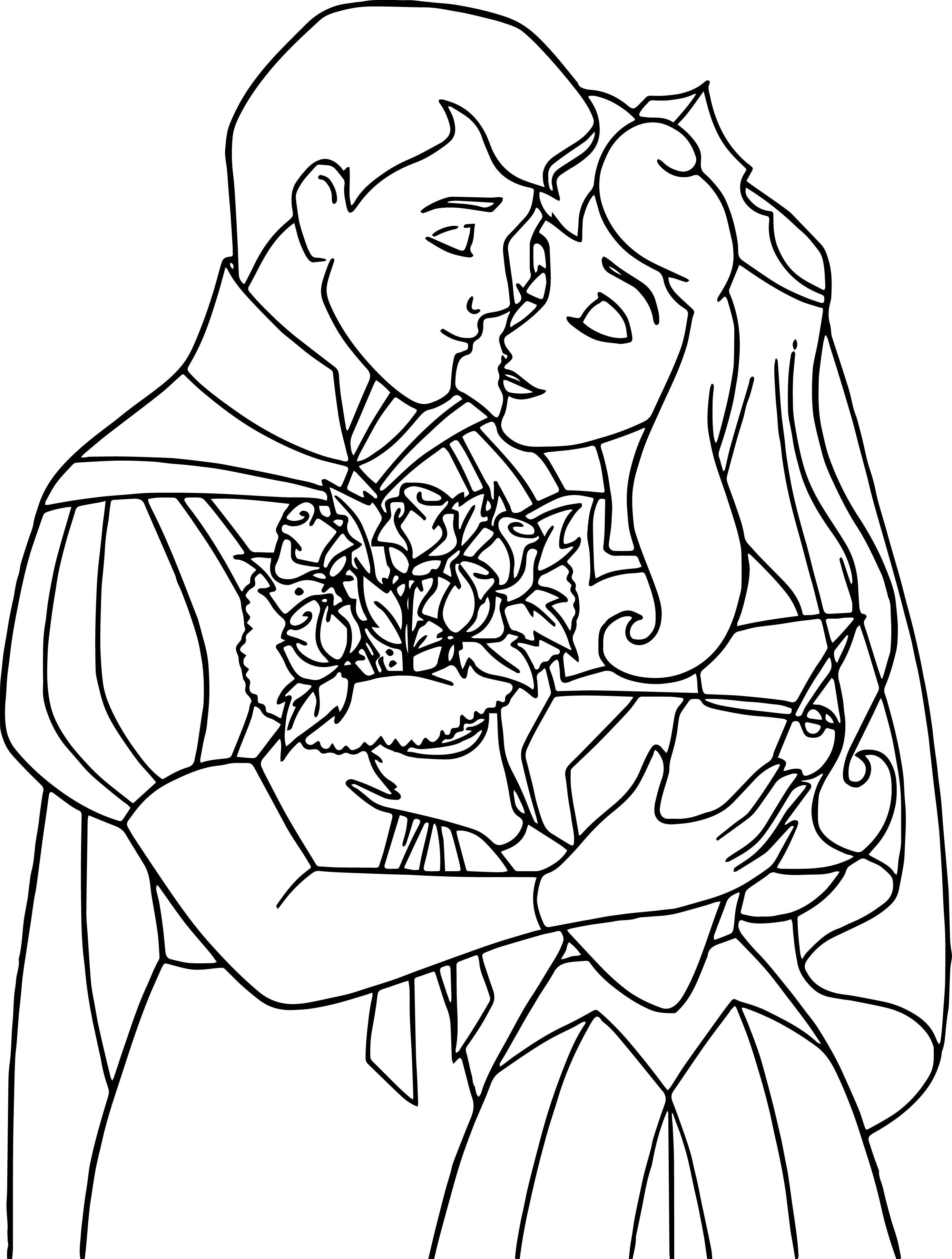 Disney Aurora and Phillip Coloring Pages 05