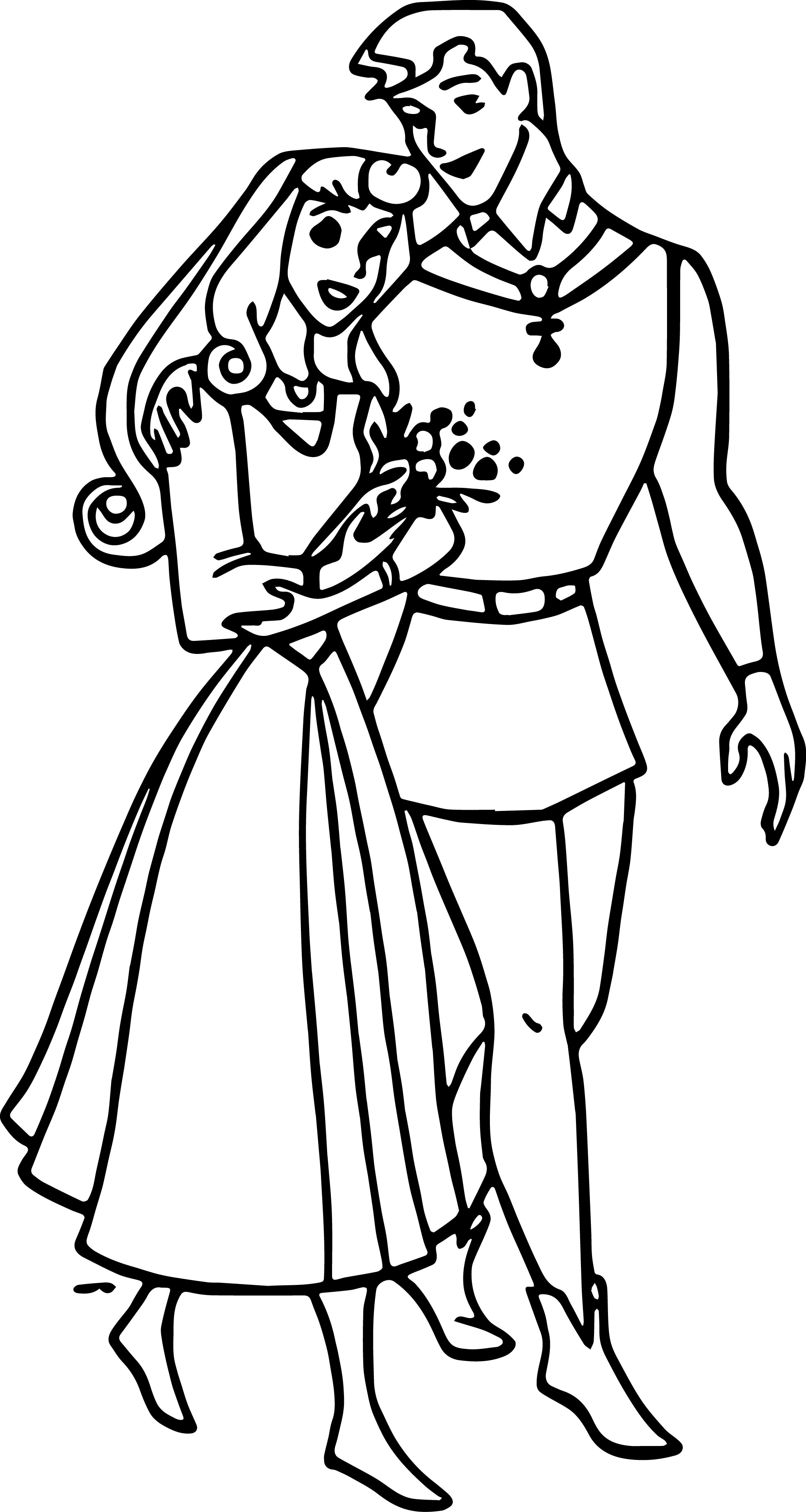 Disney Aurora and Phillip Coloring Pages 08
