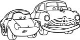 Disney Car Two Cars Coloring Page