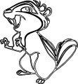 Disney Enchanted Squirrel Coloring Pages 17