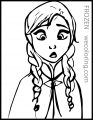 Disney Frozen Anna Cold Coloring Page
