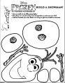 Disney Frozen Olaf Build A Snowman Coloring Page [Converted]