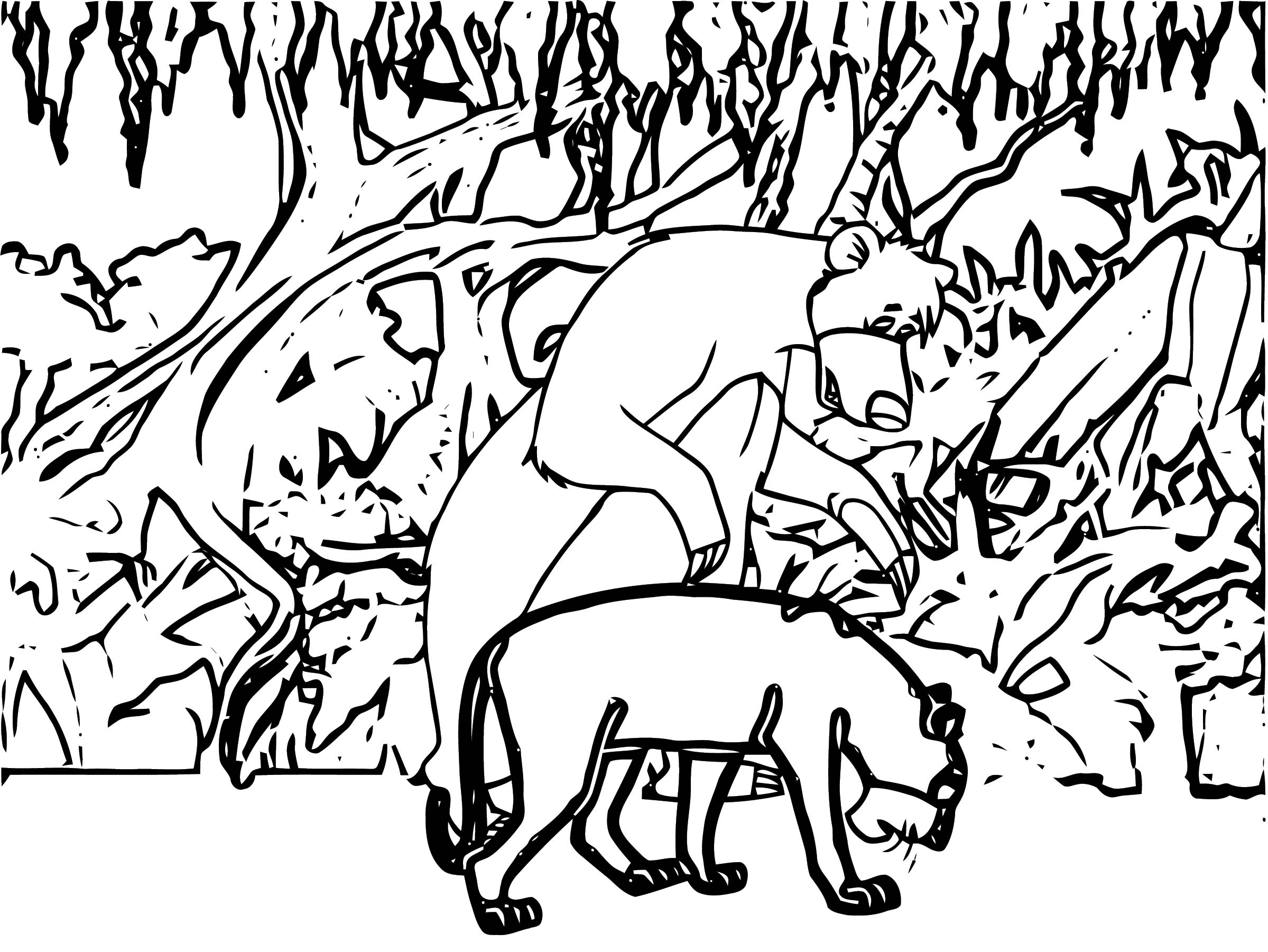 Disney Jungle Book Coloring Page 31
