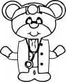 Doctor Mouse Coloring Page