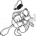 Donald Duck In Angry Mood Donald Duck Coloring Page