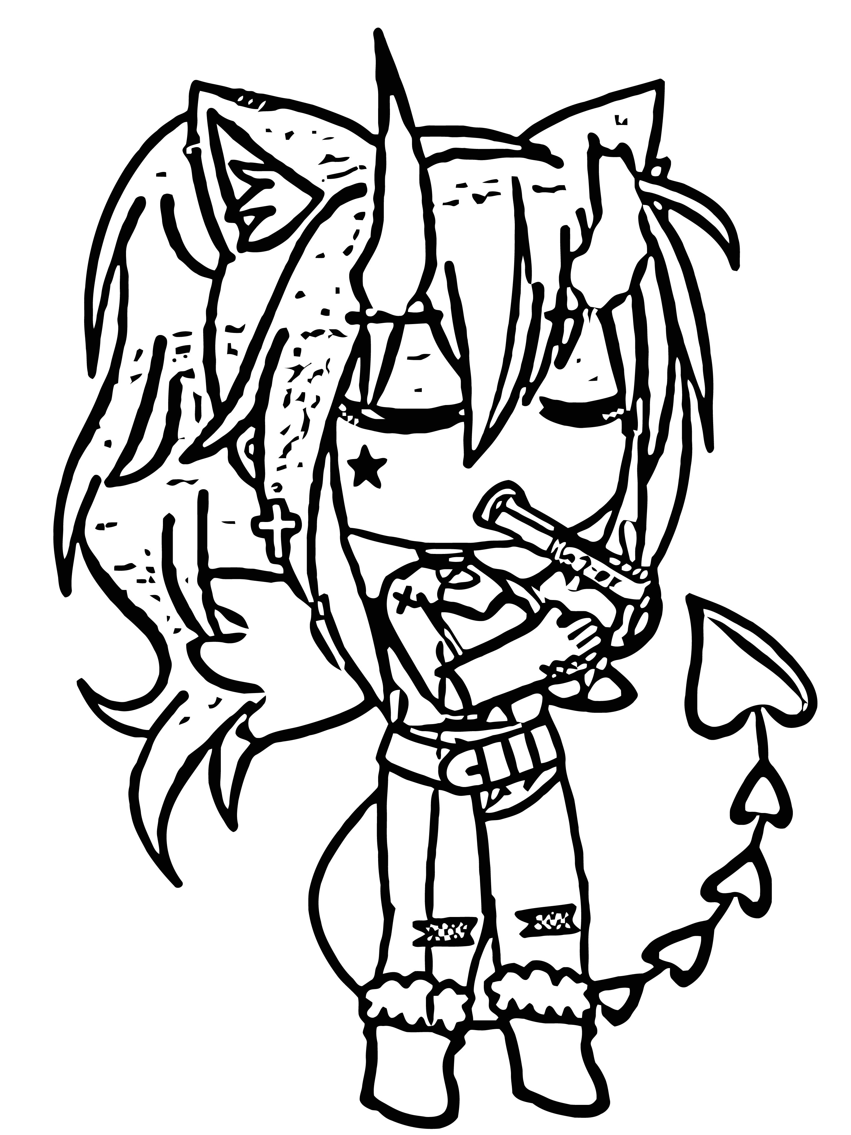 Done Gacha Life Wolf Girl Cute Hd Coloring Page