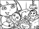 Dora And Baby S Coloring Page