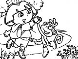 Dora And Monkey Clap Hands Coloring Page