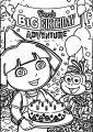 Dora Birthday C Coloring Page