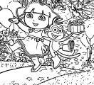 Dora Birthday Coloring Page