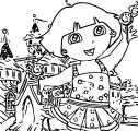 Dora In Candyland Coloring Page