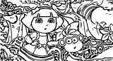 Dora In Wonderland In Dora And Boots Cartoon Coloring Page