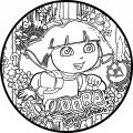 Dora Oval Coloring Page 01 A
