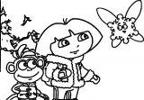 Dora Snow Coloring Page