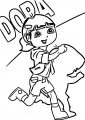 Dora Still Explorer Alternate Hairstyle Coloring Page