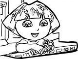 Dora The Babysitter Slacking Coloring Page