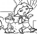 Dora The Explorer Coloring Page 04