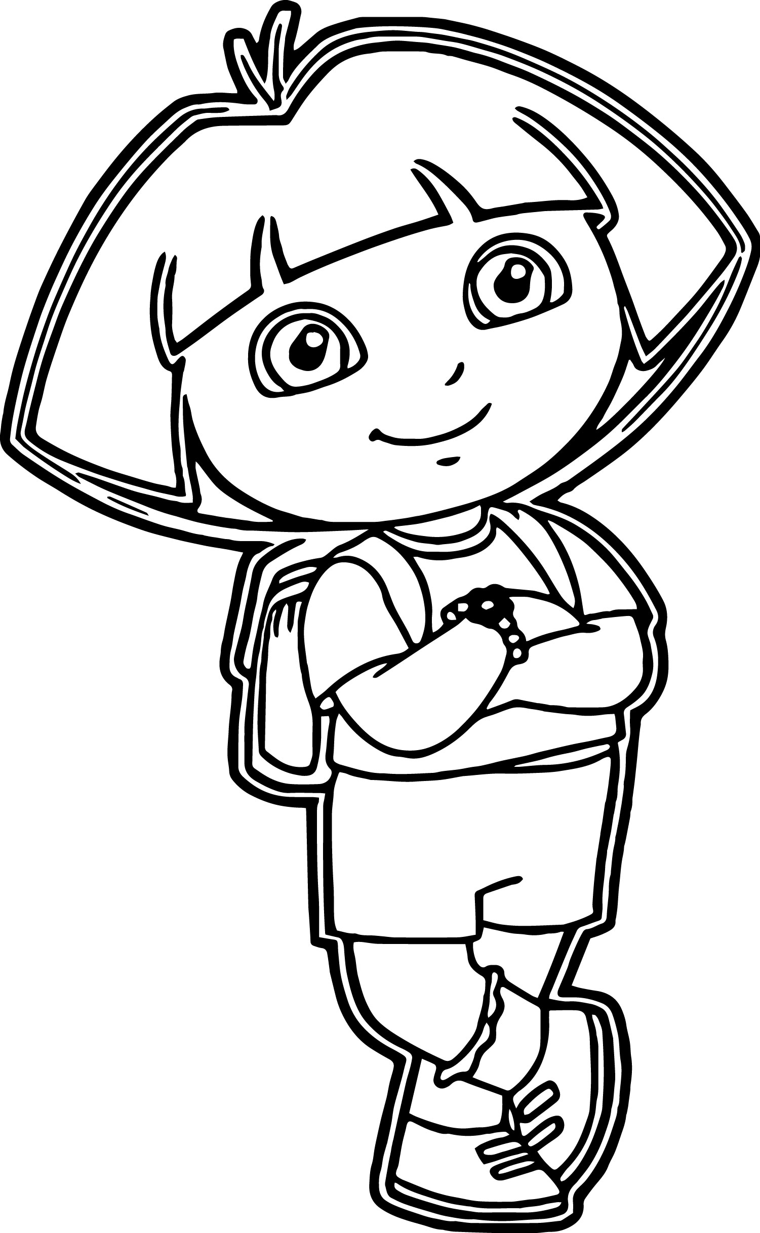 Dora The Explorer Coloring Page 17