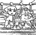 Dora The Explorer Coloring Page 23