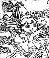 Dora The Explorer Princess Dreams Coloring Page