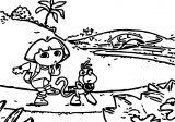 Dora The Explorer2 Cartoon Coloring Page