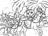 Dora's Knighthood Adventure Cartoon Coloring Page
