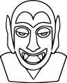 Dracula_Face_Cartoon coloring page