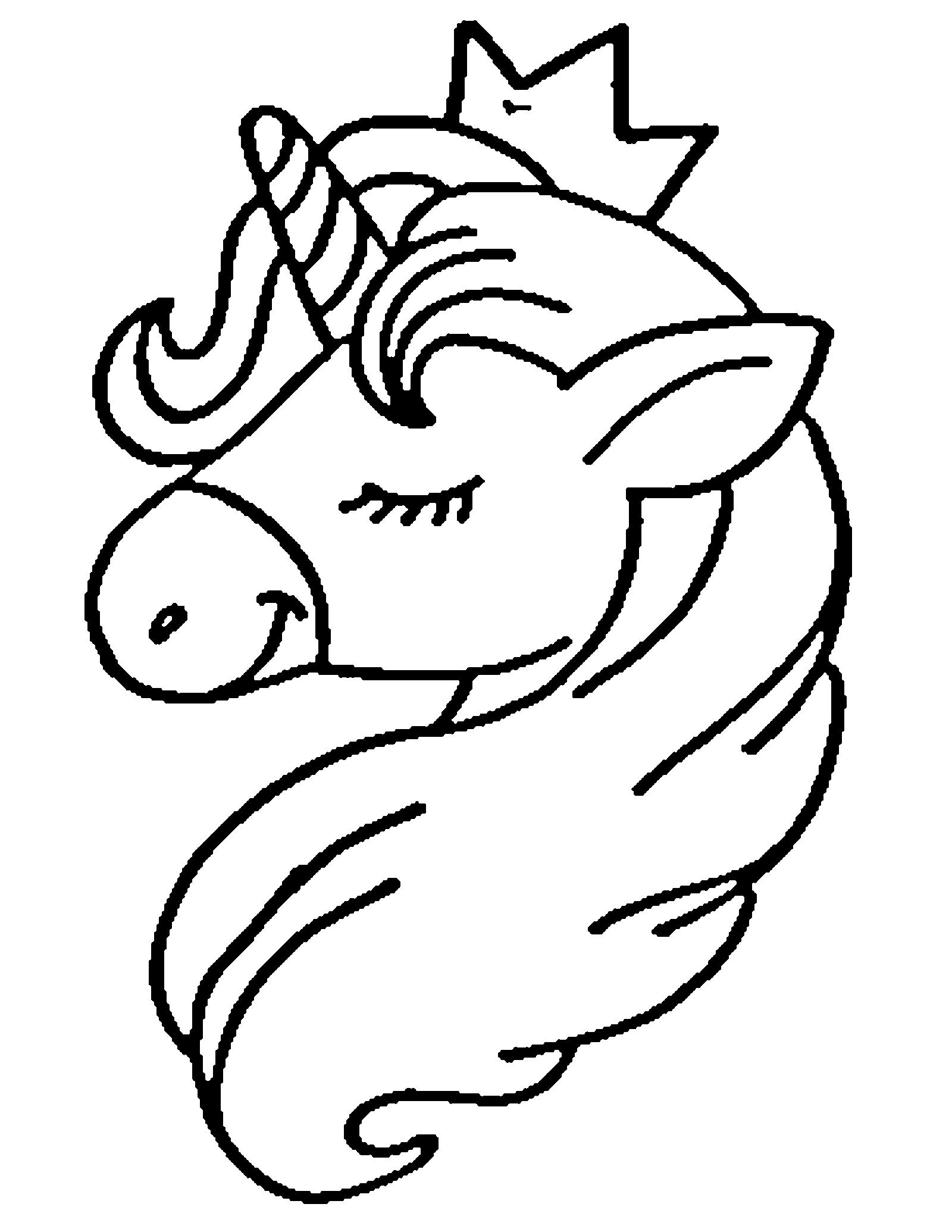 Draw Unicorn Coloring Page