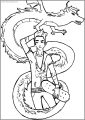 Drawing Style American Dragon Jake Long Free A4 Printable Coloring Page