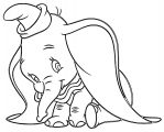 Dumbo Cute2 Coloring Pages