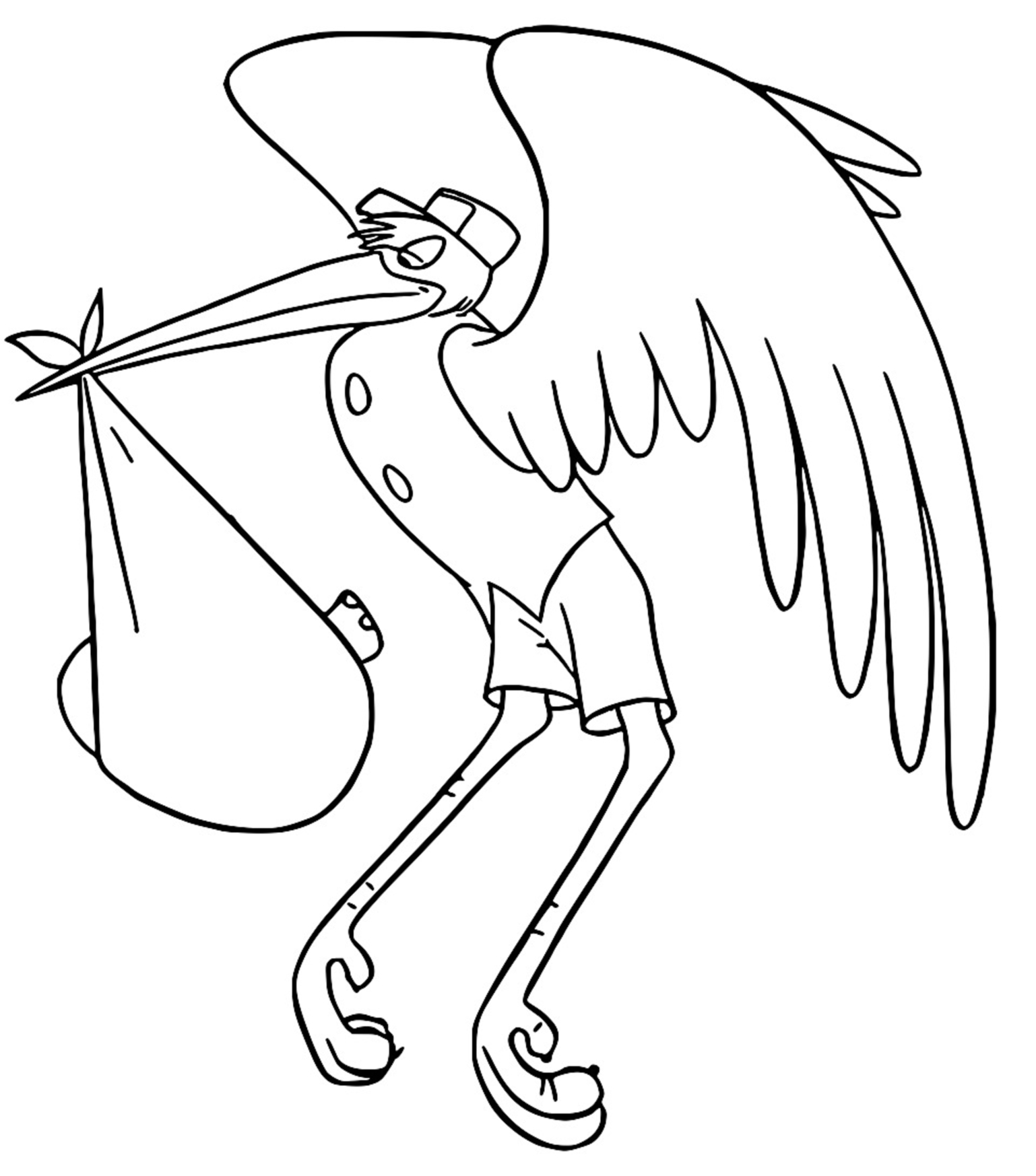 Dumbo Stork Coloring Pages