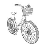Dutch Bicycle Persp Coloring Page