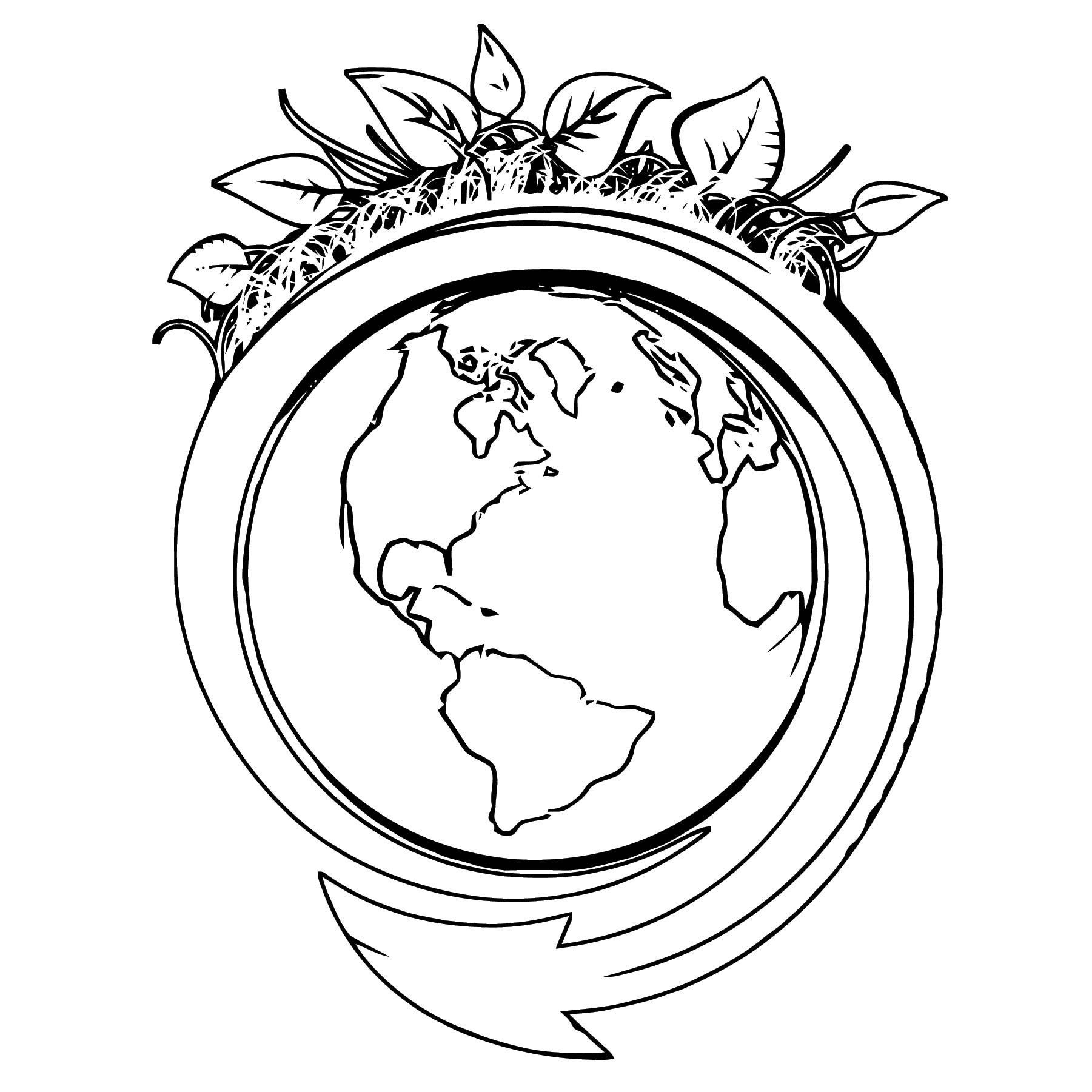 Earth Globe Coloring Page WeColoringPage 060