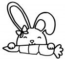 Easter Bunny Eat Carrot Coloring Page