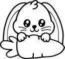 Easy Cute Bunny Coloring Page