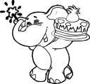 Elephant Birthday Balloon Coloring Pages