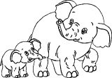 Elephant Coloring Page 23