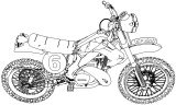 Enduro Race Motorcycle Coloring Page