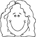 Face Lady Face Clip Art 23104 073 Coloring Page