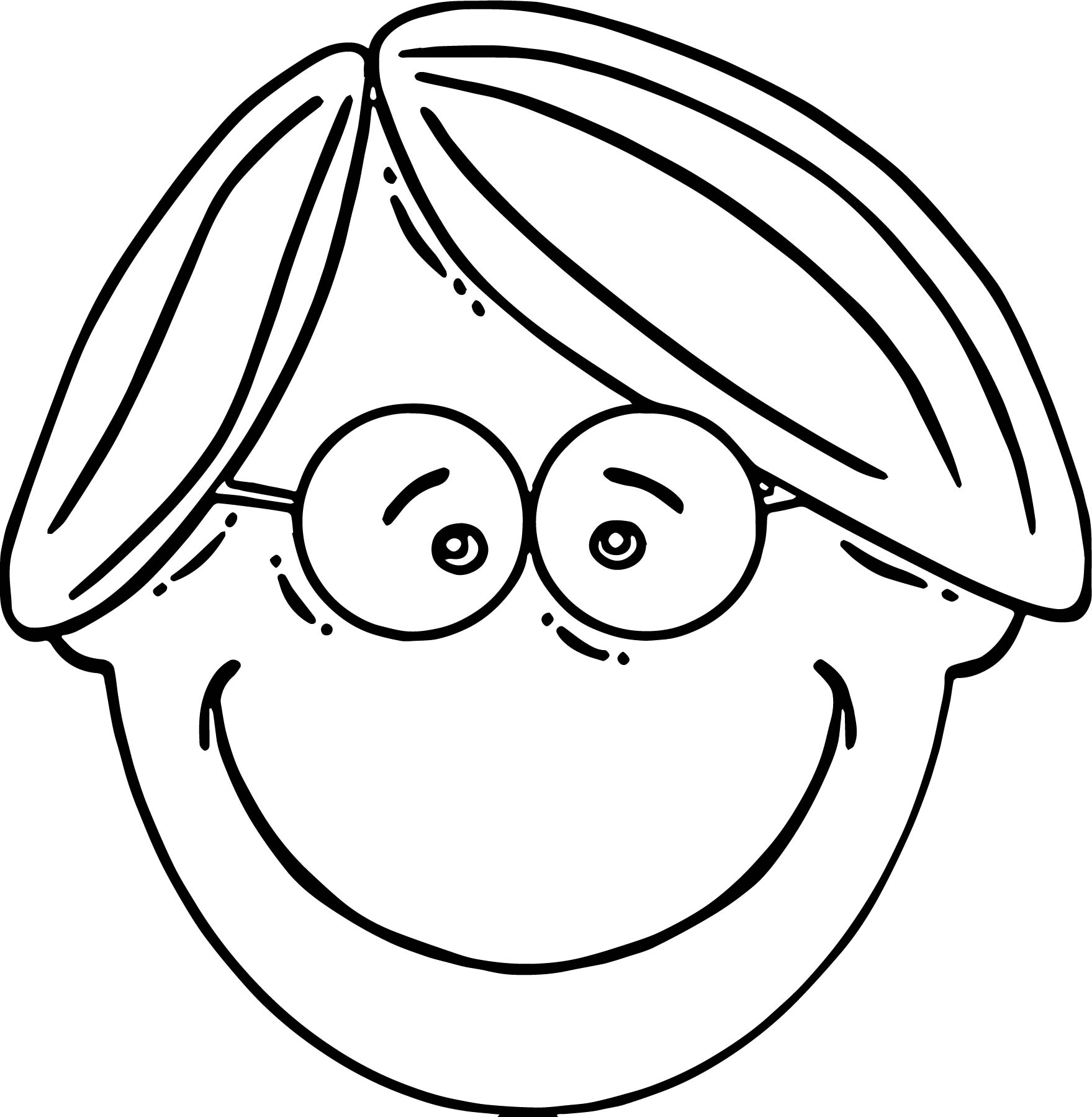 Face Ledger Boy Face Cartoon Clip Art  Coloring Page (2)