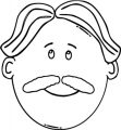 Face Man Face World Label Clip Art 42813 081 Coloring Page