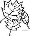 Fall Leaf Coloring Page (2)