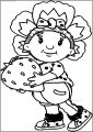 Fifi Strawberry Free A4 Printable Coloring Page