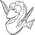 Finding Dory Coloring Pages 11